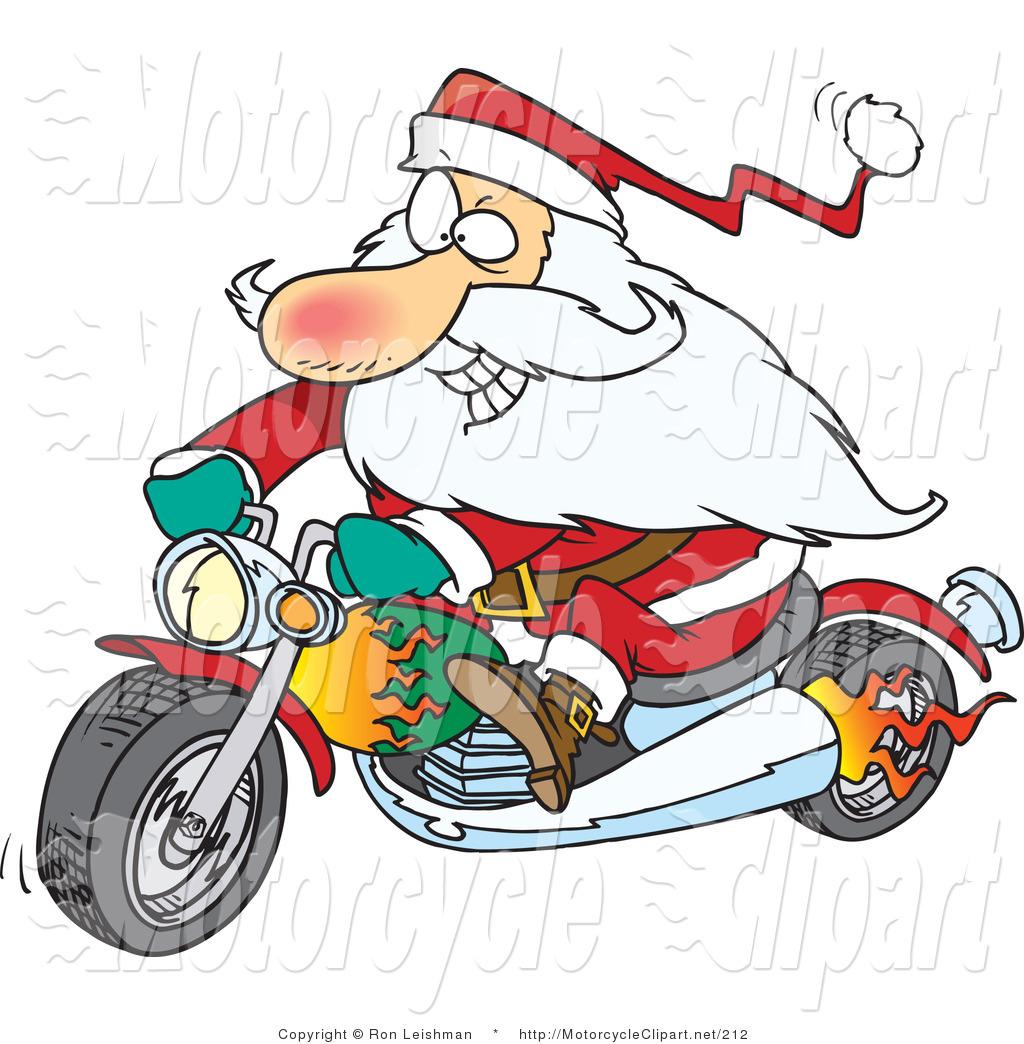 1024x1044 Christmas Motorcycle Clip Art