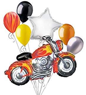 292x320 Loonballoon Motorcycle Harley Davidson Hog Bike Blue