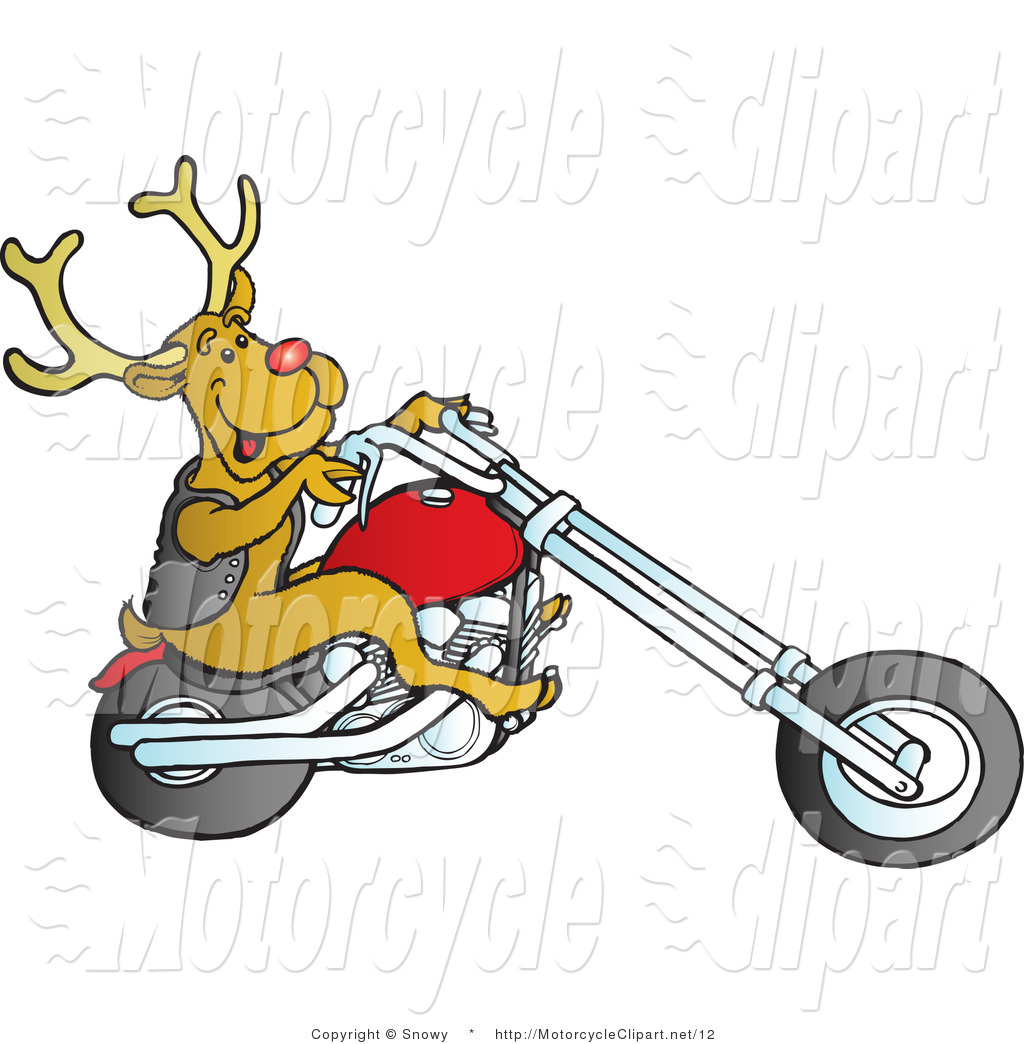 1024x1044 Biker Clipart Christmas