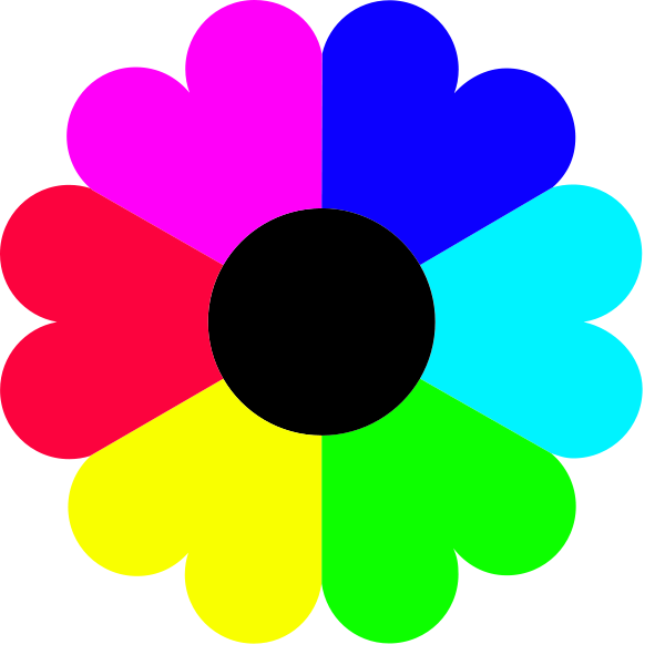 600x600 Flower 7 Colors Png Clip Arts For Web