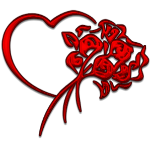 300x300 Heart And Flowers Free Images
