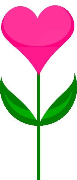 258x597 Heart Flower Clip Art