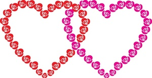 300x154 Hearts Clipart Image
