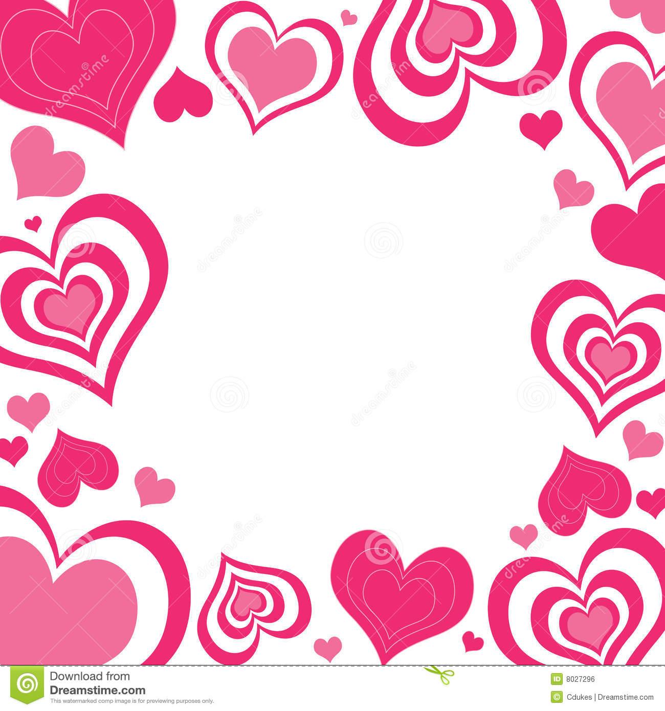 1300x1390 Valentine Hearts Border Clip Art Quotes Amp Wishes For Valentine'S