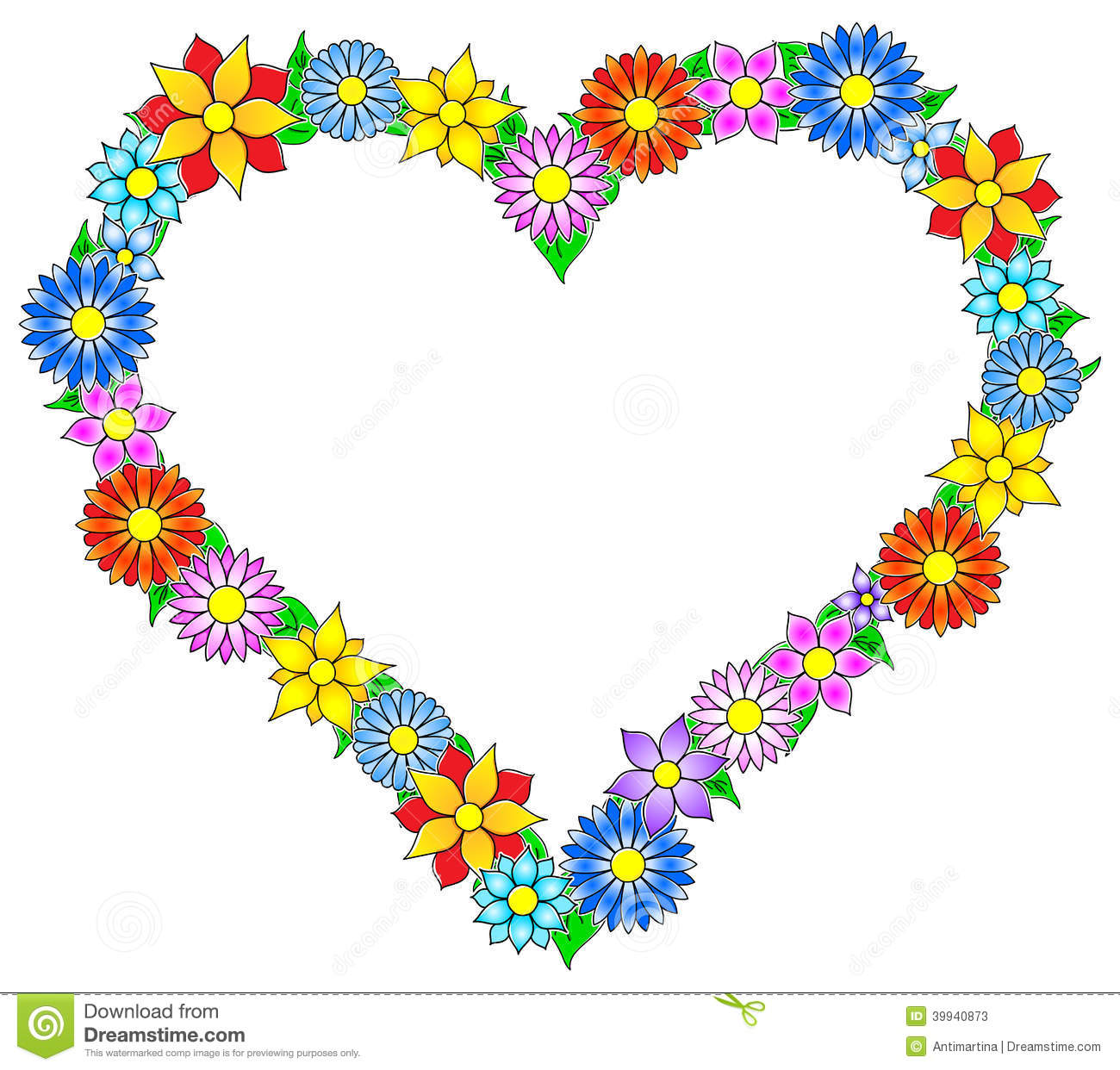 Clipart Of Hearts And Flowers at GetDrawings | Free download