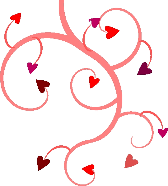 540x595 Clip Art Of Flowers And Hearts