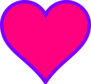 300x279 Magenta Amp Purple Heart Clip Art