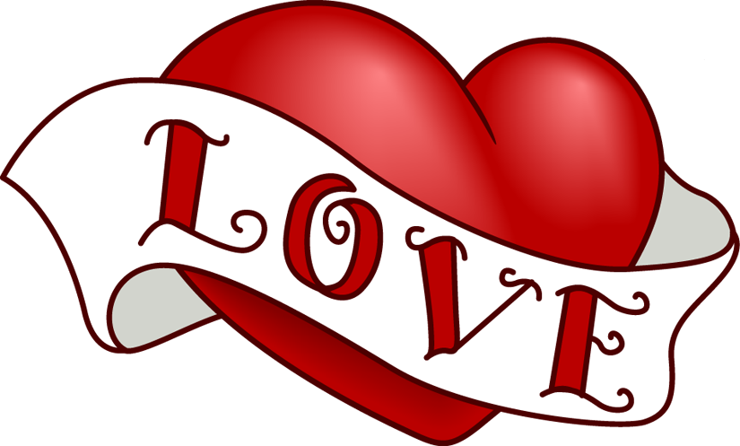 825x497 Vintage Heart Clip Art Design For Valentine's Day