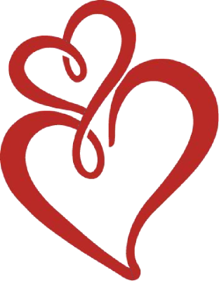 312x400 Red Double Heart Clip Art