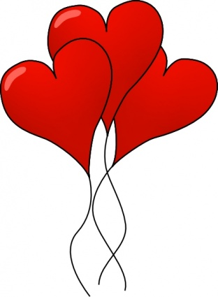 312x425 Free Download Of Heart Ballons Clip Art Vector Graphic