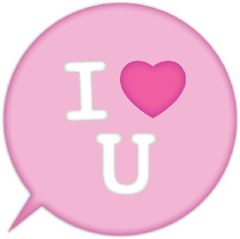 340x339 I Love You Button Clip Art Clipart Panda