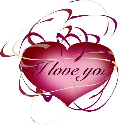 400x403 I Love You Clip Art Free Valentine Clipart I Love You Deep Pink