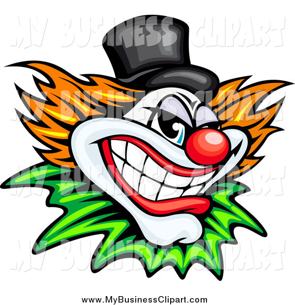 600x620 Vector Clip Art Of A Evil Clown Or Joker With A Top Hat By Vector