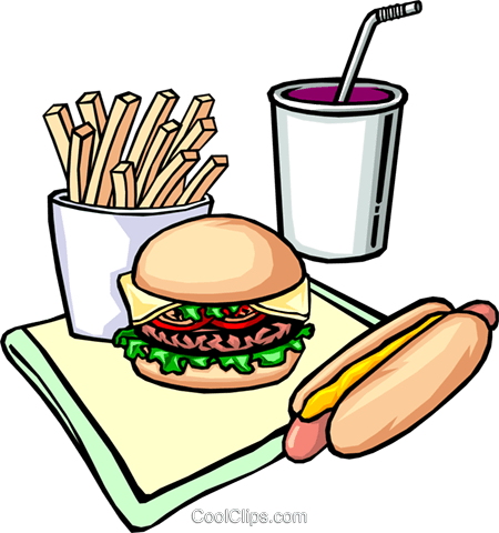 450x480 Fast Food Royalty Free Vector Clip Art Illustration Food0133