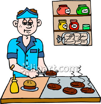 340x350 Burger Clipart Fast Food Restaurant