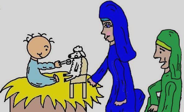 593x362 Mary Joseph And Baby Jesus Clipart