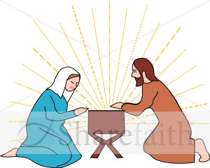 300x241 Mary And Joseph Clipart