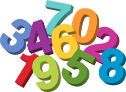 250x184 Clip Art Numbers 1 Clipart