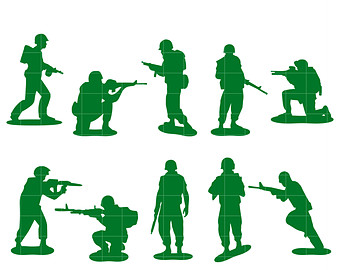340x270 Army Men Clip Art