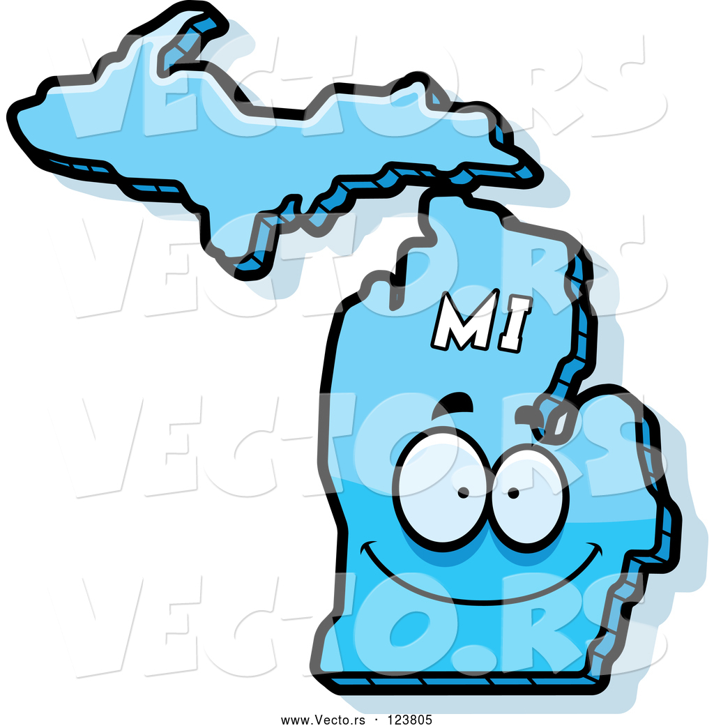 1024x1044 Vector Of Cartoon Happy Blue Michigan State Character By Cory
