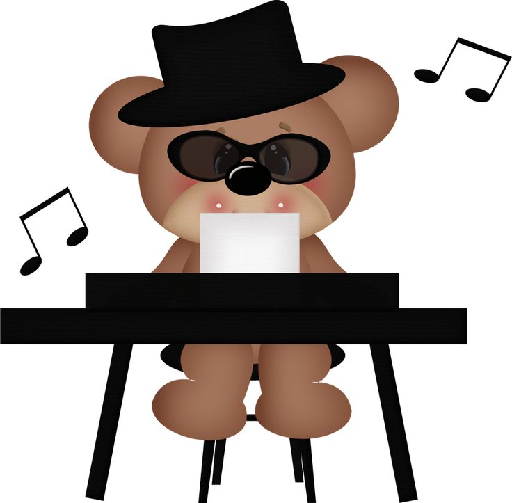 736x723 Bear Clipart Music