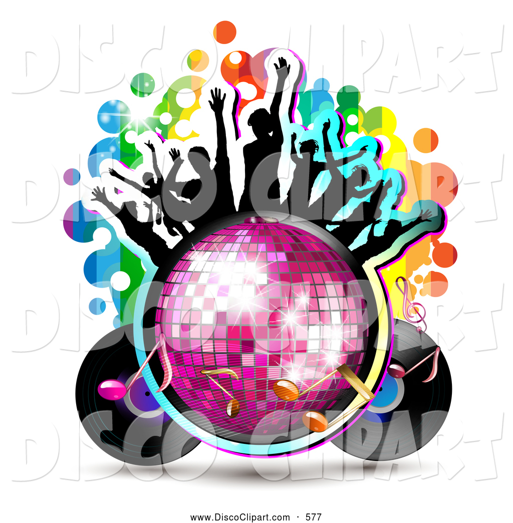 1024x1044 Vector Music Clip Art Of A Group Of Silhouetted Dancers On A Disco