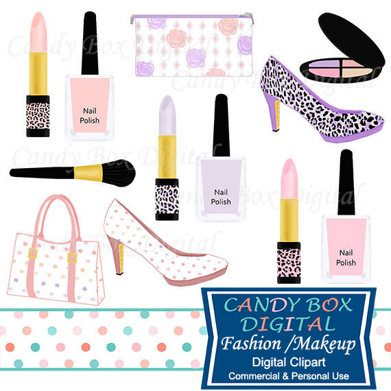 570x570 Fashion And Makeup Clipart, Diva Girly Clipart, Nail Polish Clip