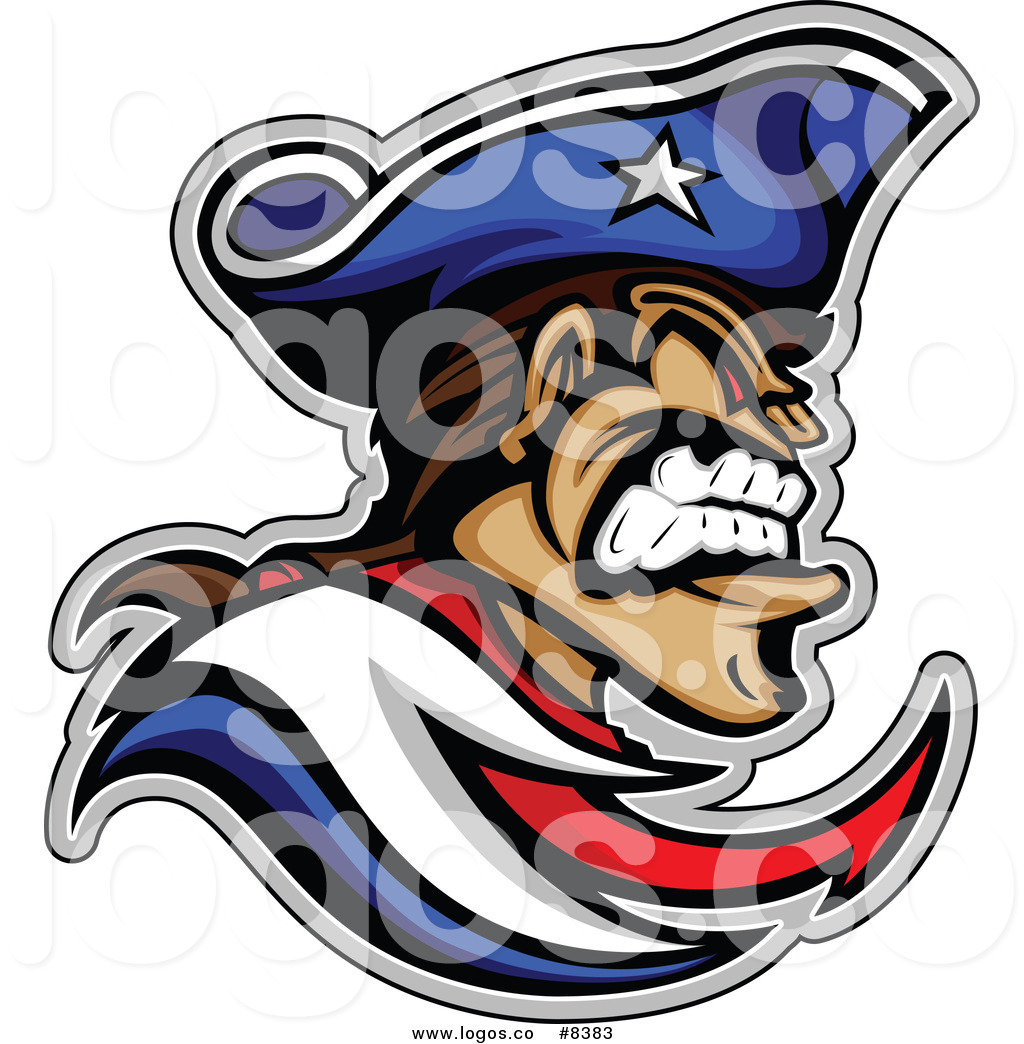 1024x1044 Royalty Free Clip Art Vector Logo Of A Aggressive Patriot