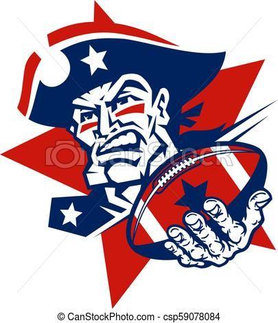 405x470 Patriots Football Vector