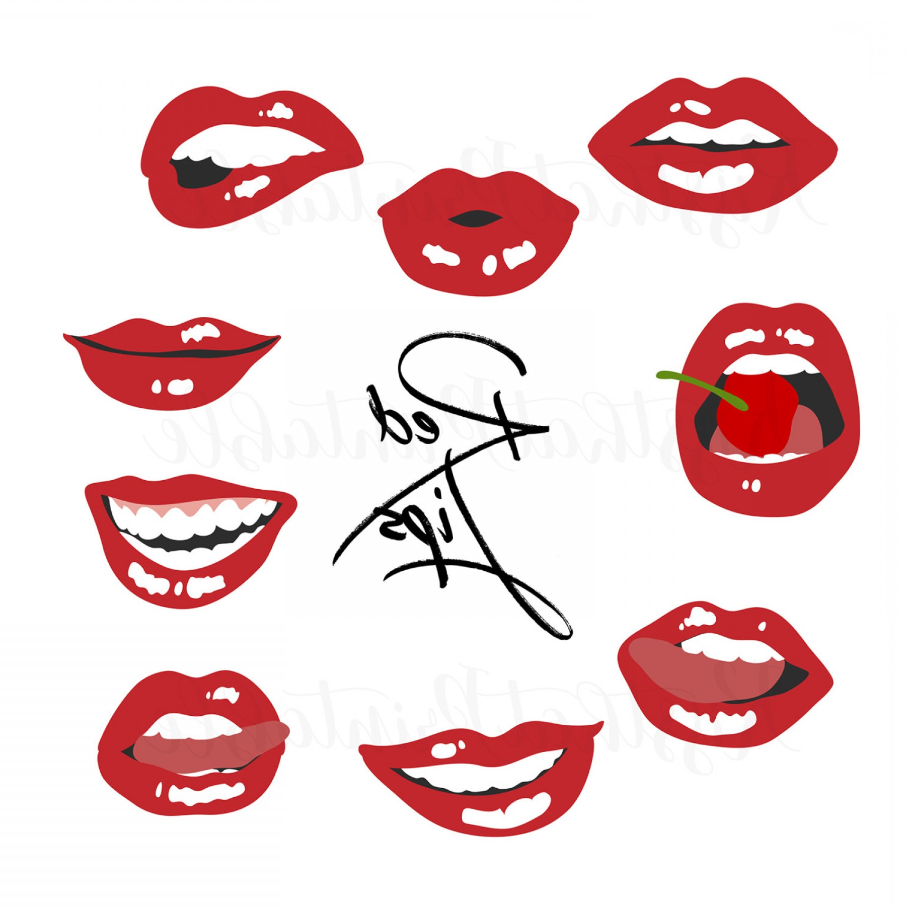 1800x1800 Lips Clip Art Kiss Overlay Hand Drawn Sohadacouri