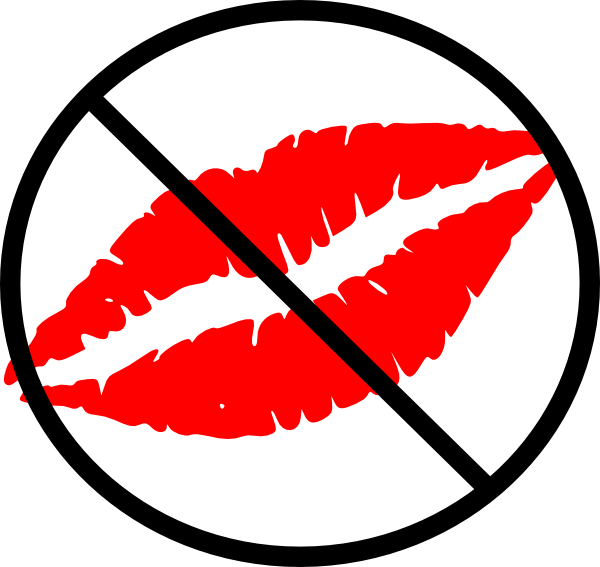 600x567 No Kiss Zone Clip Art