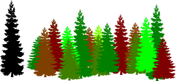 600x277 Green Forest Trees Clipart Desktop Backgrounds