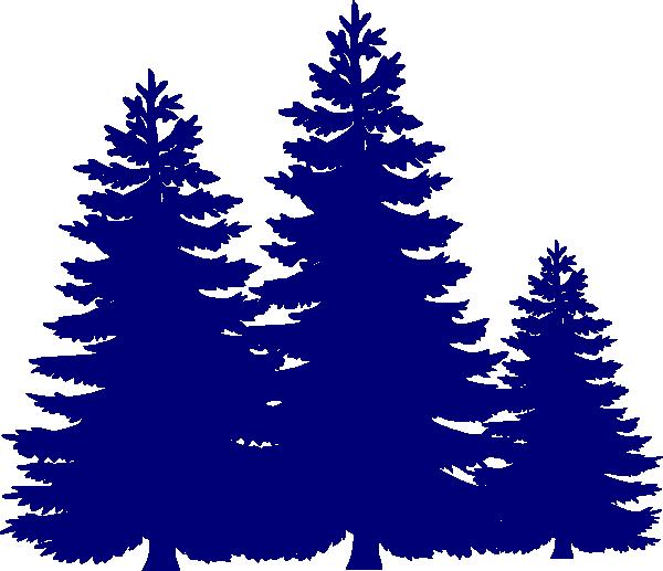 600x517 Pine Trees Clip Art