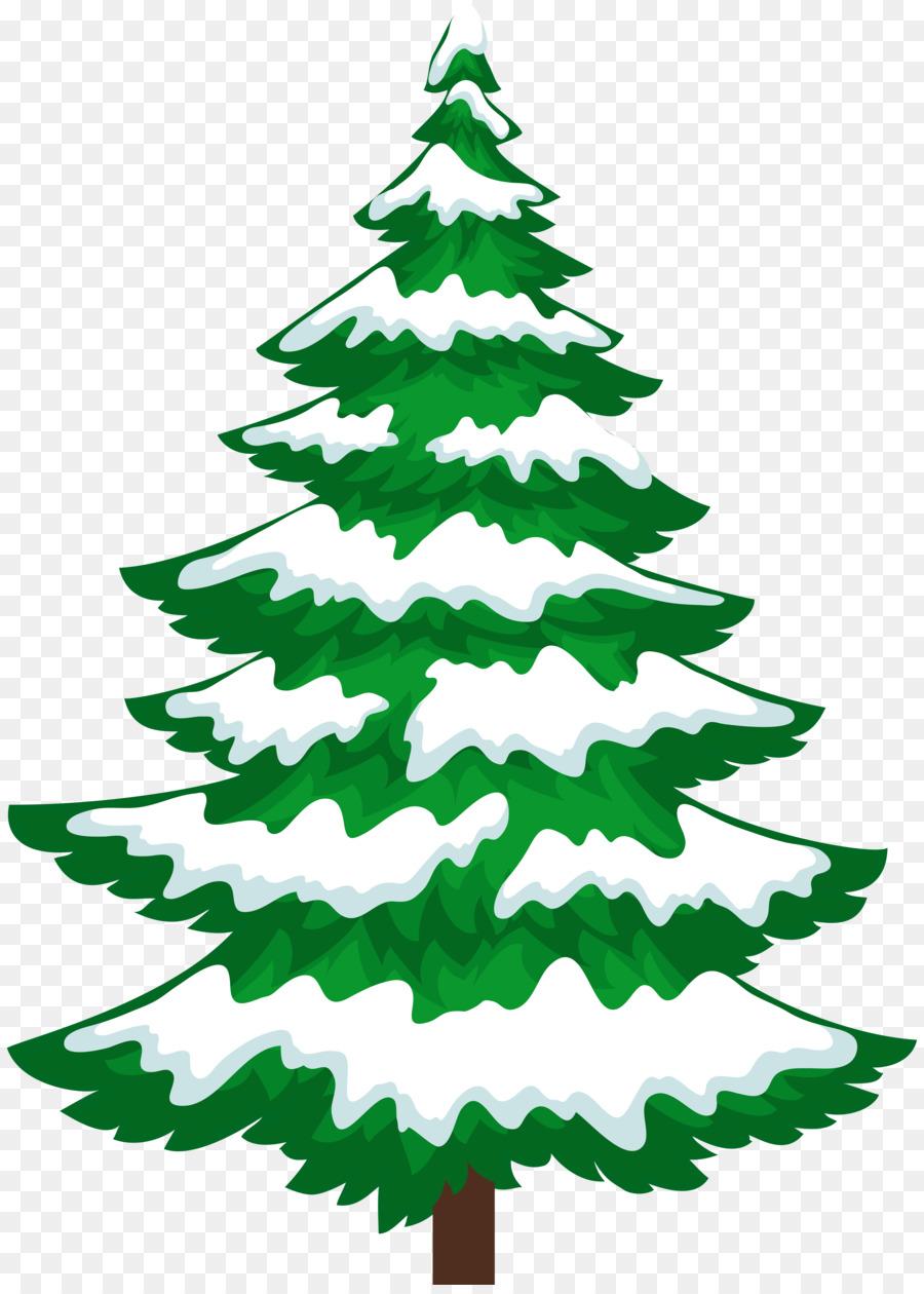 900x1260 Snow Pine Tree Winter Clip Art