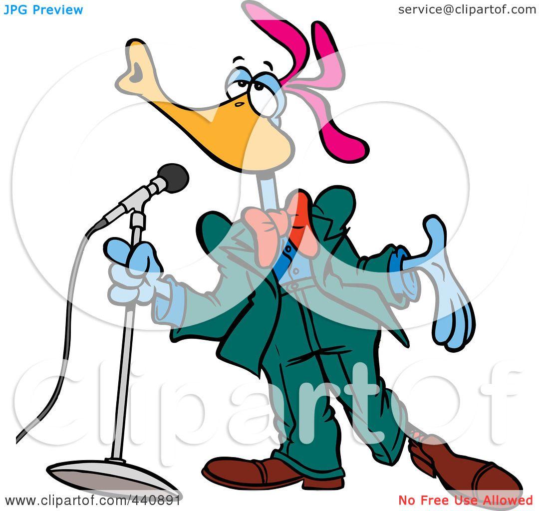1080x1024 Royalty Free (Rf) Clip Art Illustration Of A Cartoon Singing Bird