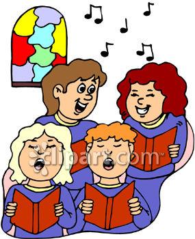 285x350 Royalty Free Clip Art Image A Female Choir Singing