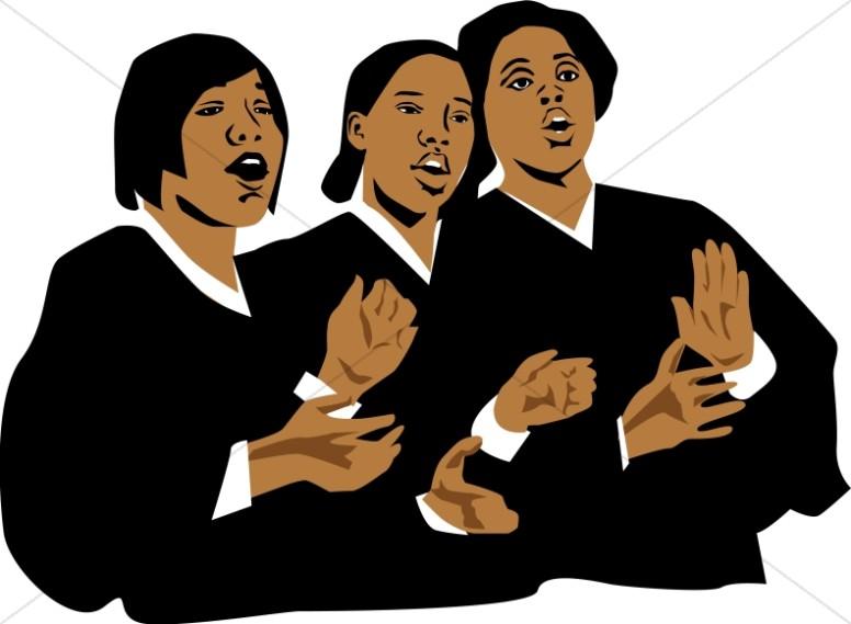 776x569 Three Church Singers Church Choir Clipart