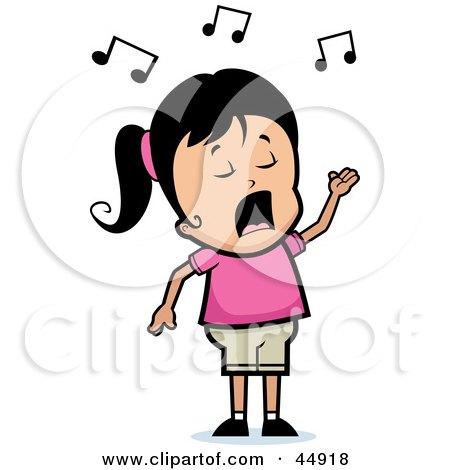 450x470 Clip Art Girl Singing Cool Clip Art