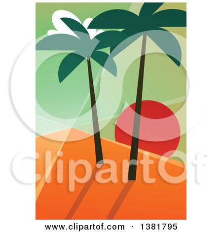 450x470 Royalty Free (Rf) Clipart Of Sunsets, Illustrations, Vector