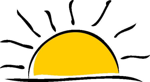 600x328 Sunset Clip Art