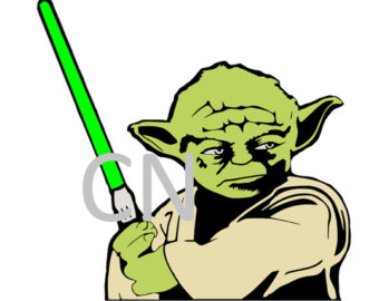 340x270 Yoda Star Wars Embroidery Design. 3 Hoop Sizes From Embroiderydad