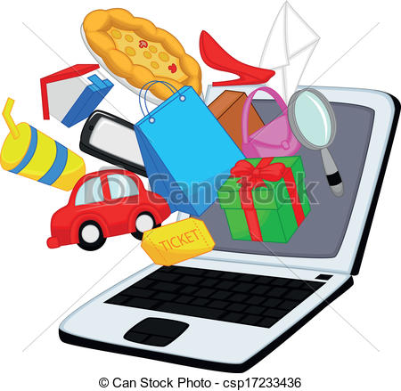 450x439 Online Clipart Free Vector Illustration Of Online Shopping Cartoon