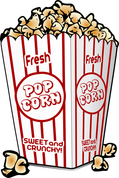 396x594 Free Cartoon Graphics Fair Food Popcorn Clip Art
