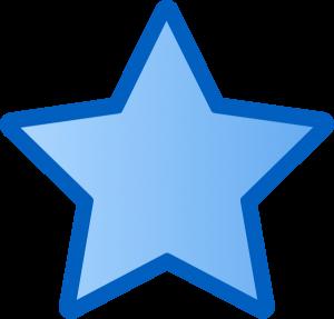 300x287 Blue Star Clipart Blue Star Clip Art