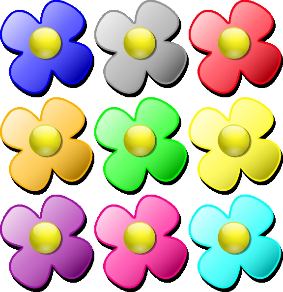 576x594 Clipart Of Small Flowers Game Marbles Flowers Clip Art At Clker