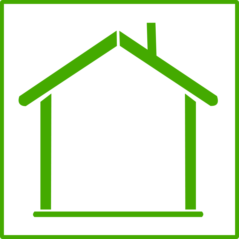 800x800 Image Of House Outline Clipart