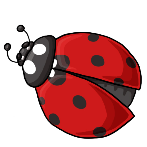 500x500 Ladybug Outline Outline Strawberry Clip Art Free Vector Download