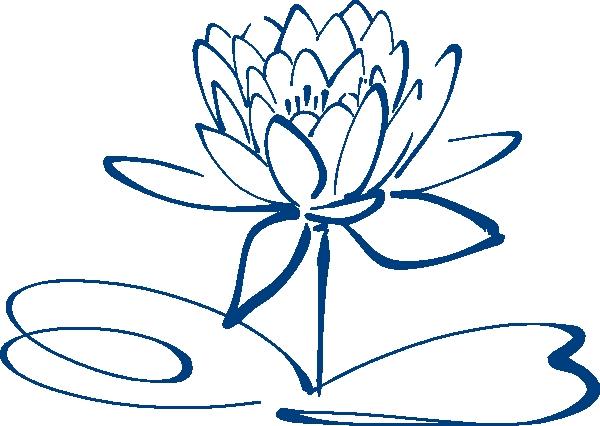 600x426 Lotus Flower Outline Clipart Lotus Flower Outline Blue Clip Art