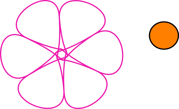 600x368 Pink Flower Clipart Outline