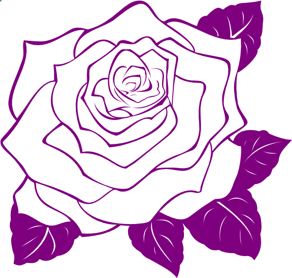 600x572 Rose Outline Clipart